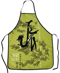 Kuchyňské zástěry ASIA 60x75 cm zelená motiv čínského draka Essex