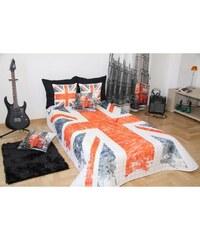 Přehoz na postel ENGLAND 160x210 cm vlajka Mybesthome