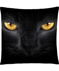 Polštář s motivem kočičích očí, černá, Mybesthome 40x40 cm Varianta: Povlak na polštář, 40x40 cm