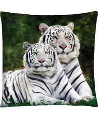 Polštář s motivem bílého tygra Mybesthome 40x40 cm Varianta: Povlak na polštář, 40x40 cm