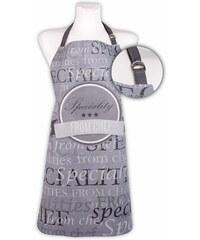 Kuchyňská bavlněná zástěra SPECIALITIES, šedá, Essex, 100% bavlna