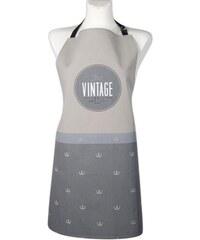 Kuchyňská bavlněná zástěra VINTAGE, šedá, Essex, 100% bavlna