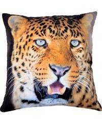 Polštář LEOPARD 101 MyBestHome 40x40cm fototisk 3D motiv leoparda Varianta: Povlak na polštář, 40x40 cm