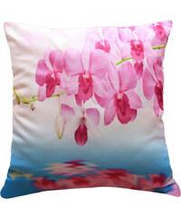 Polštář RŮŽOVÁ ORCHIDEJ NA VĚTVIČCE MyBestHome 40x40cm fototisk 3D motiv růžová orchidej na větvičce Varianta: Povlak na polštář, 40x40 cm