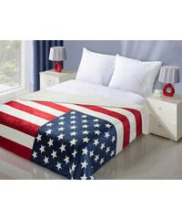 Luxusní přehoz na postel USA FLAG 170x210 cm americká vlajka MyBestHome Záznam byl v pořádku uložen.