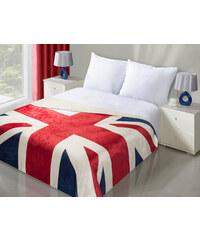 Luxusní přehoz na postel BRITISH FLAG 170x210 cm anglická vlajka MyBestHome