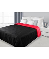 Přehoz na postel DAFNE 220x240 cm černá/červená Mybesthome