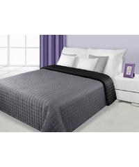 Přehoz na postel DAFNE 170x210 cm černá/stříbrná Mybesthome