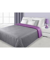 Přehoz na postel DAFNE 170x210 cm stříbrná/fialová Mybesthome