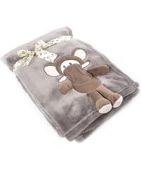 Dětská deka s aplikací HUG ME slůně 75x100 cm Essex
