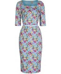 Šaty Lindy Bop Doris Sky Blue Floral