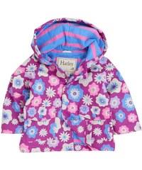 Hatley Dívčí nepromokavá bunda Kytičky - fialová