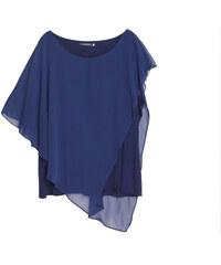 Lesara Shirt mit asymmetrischem Schnitt - Blau - XXL