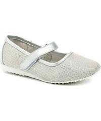 Dětská obuv Peddy PW-518-12-02 šedé dívčí baleríny