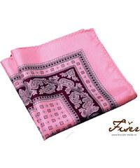 Fišer Růžový hedvábný kapesníček