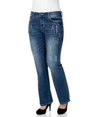 AMY JONES Dámské strečové džíny, Amy Jones modrá obnošená - N-velikosti