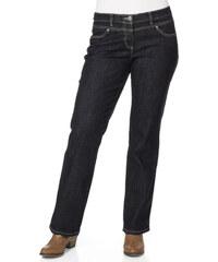 JFM Strečové džíny zaoblená postava , JFM modročerná - Normální délka