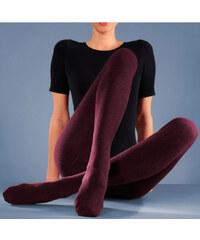 LAVANA Punčochové termo-kalhoty 2ks 1x vínová, 1x černá