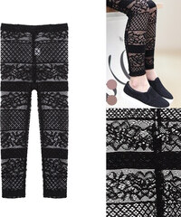Lesara Kinder-Spitzen-Leggings - 98