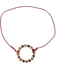 Louise Hendricks Bracelet - plaqué or avec lien rose fuchsia