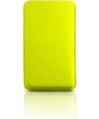 KIRSTEN Iphone - Étui - 4 en cuir en cuir doublé cuir jaune fluo