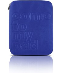 KIRSTEN Ipad - Etui - en cuir doublé cuir bleu