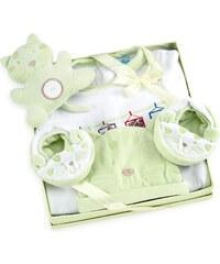 Les Bébés d Elysea Coffret cadeaux de naissance chat vert