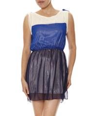 Lea R Kleid mit kurzem Schnitt - blau