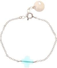 Emma Pill Bracelet - croix turquoise