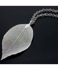Lesara Halskette mit Blatt-Anhänger - Silber