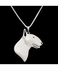 Lesara Halskette mit Bullterrier-Anhänger - Silber