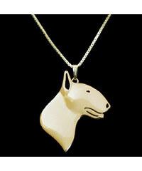 Lesara Halskette mit Bullterrier-Anhänger - Gold