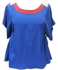 Dress Gallery Blouse en soie bleue