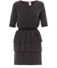 Dress Gallery Origami - Robe en jersey de laine - gris et noir