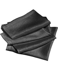 Ifilhome Lot de 4 serviettes de table - anthracite