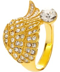 Bague à part Bague aile - en métal doré et cristal