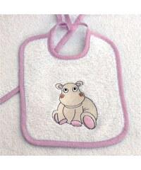 Les Bébés d Elysea Hippo - Set éponge - rose