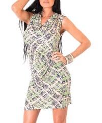 Toutes les robes Robe courte - imprimée verte et orange