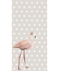 Lé papiers de Ninon Lé de papier peint unique intissé design flamand - rose