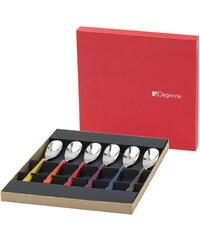 Guy Degrenne Quartz miroir - Coffret de 6 cuillères à café - multicolore