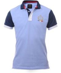 Vallim Polo en coton cintré - bleu clair