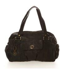 Pieces Handtasche - aus schwarzem Leder