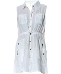 100% Lin Robe en lin - blanc