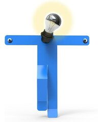 Thomas de Lussac Design Moonwalk Kredo - Lampe - bleue