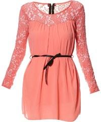 Le dressing d'Alisson Kleid mit fließendem Schnitt - korallenfarben