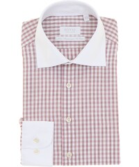 Royal Chemise - ajustée rouge et blanche à carreaux