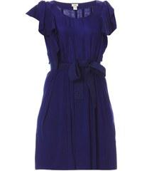 Hoss Intropia Kleid aus zwei Materialien - tintenblau