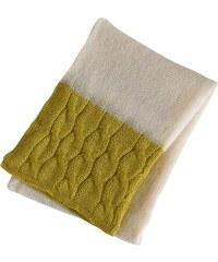 Olivier Desforges Mohair - Couverture - jaune et blanc