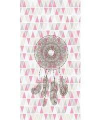 Lé papiers de Ninon Lé de papier peint unique intissé attrape-rêve - gris et rose
