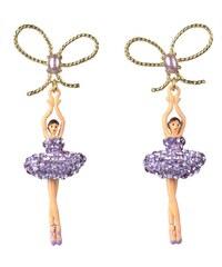 Les Néréides Pas de deux luxe - Boucles d'oreilles ballerines - lilas